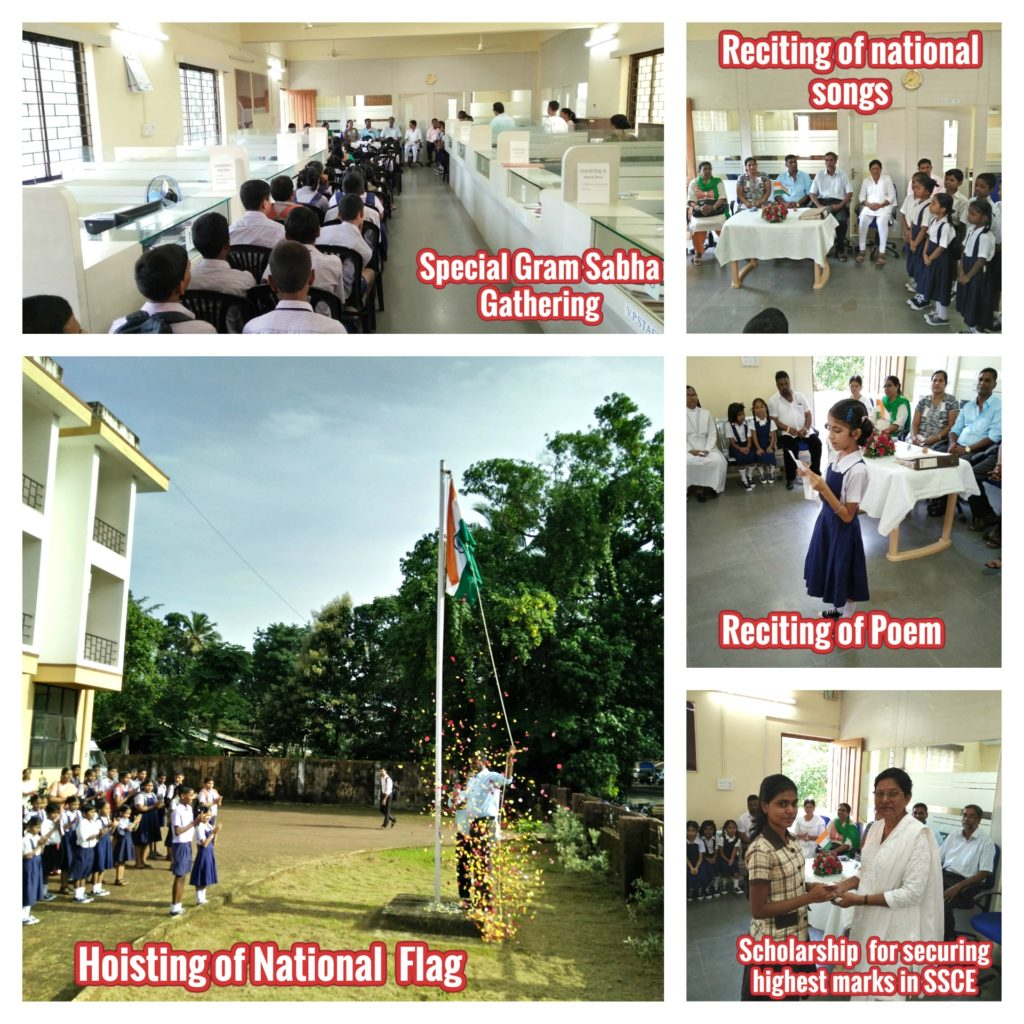 Celebration of Independence day at V.P. Navelim on 15th Aug 2016