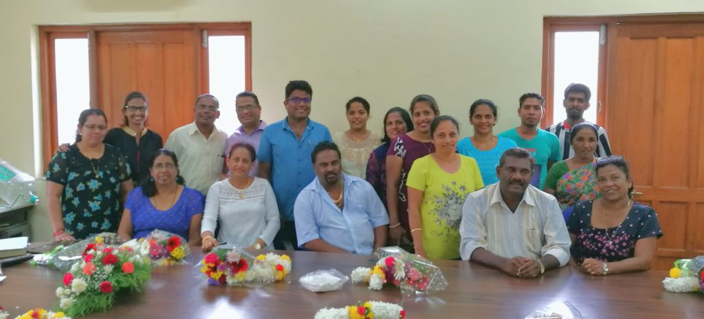 The newly elected Panchayat body, V.P. Navelim gets a new Sarpanch